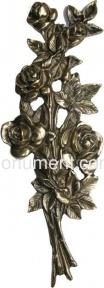 Объемный букет роз латунь H39 см арт.314