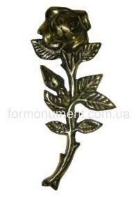 Роза из латуни H17,5 см арт.303_1